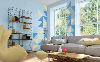 Cómo pintar una pared con figuras geométricas paso a paso