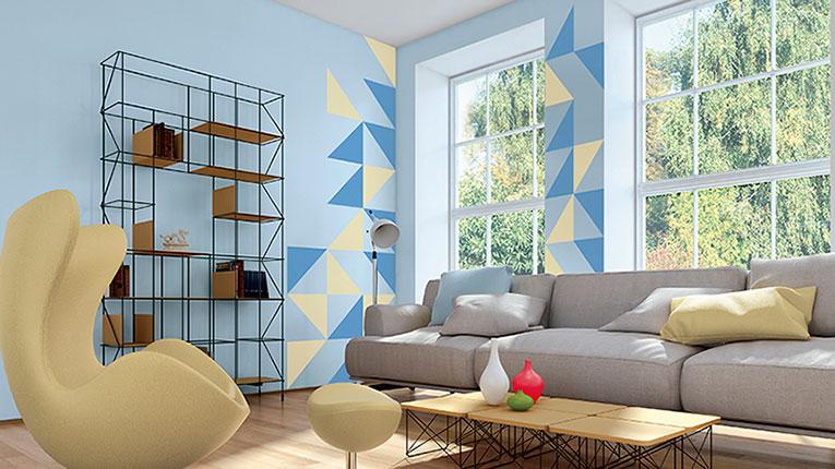 pintar pared figuras geometricas