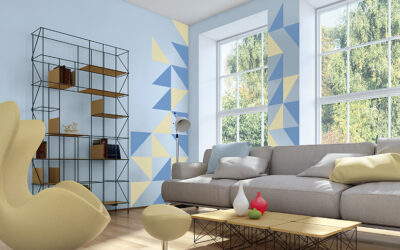 Aprende a pintar paredes con figuras geométricas