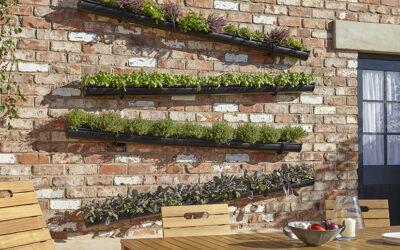 Crea tu propio jardín vertical con canalones