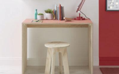 Proyecto Brico: cómo hacer un escritorio de madera con taburete