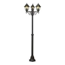 Farola negra Varennes para iluminación exterior casa